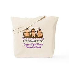 See Speak Hear No Cystic Fibrosis Tote Bag