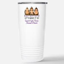 See Speak Hear No Cystic Fibrosis Travel Mug