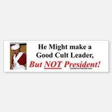 """Cult Leader?"" Bumper Bumper Bumper Sticker"