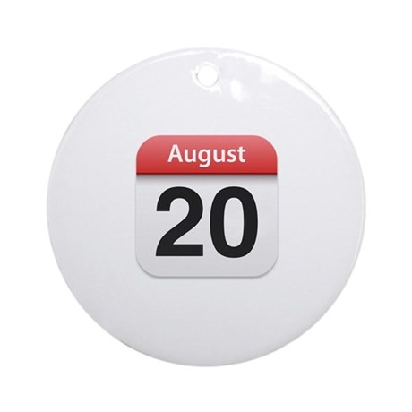 Apple iPhone Calendar August 20 Ornament (Round)