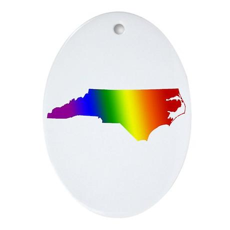North Carolina Gay Pride Oval Ornament