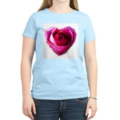 Hearts and Roses #5129 Women's Pink T-Shirt