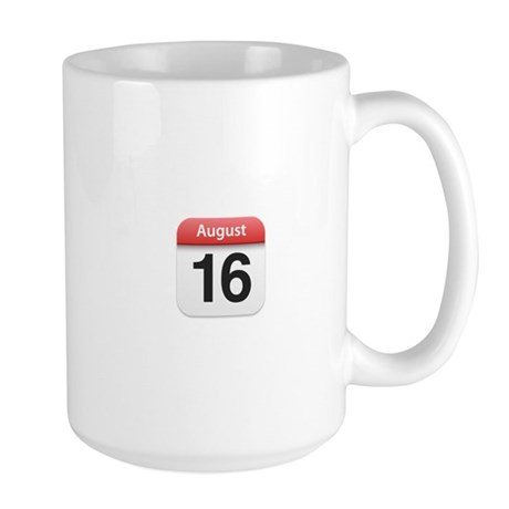 Apple iPhone Calendar August 16 Large Mug
