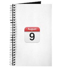 Apple iPhone Calendar August 9 Journal