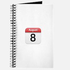 Apple iPhone Calendar August 8 Journal