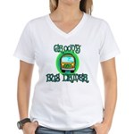 Groovy Bus Driver Women's V-Neck T-Shirt