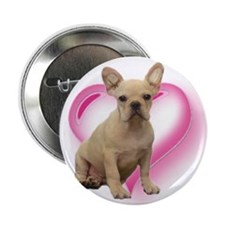 """French Bulldog puppy 2.25"""" Button (10 pack)"""