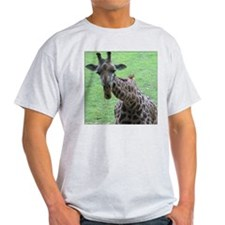 Giraffe Head & Neck View Ash Grey T-Shirt