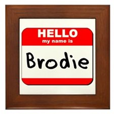 Hello my name is Brodie Framed Tile
