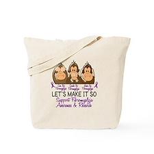 See Speak Hear No Fibromyalgia 2 Tote Bag