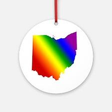 Ohio Gay Pride Ornament (Round)