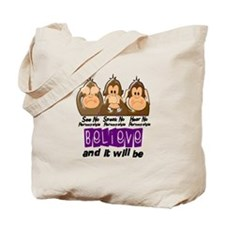See Speak Hear No Fibromyalgia 3 Tote Bag