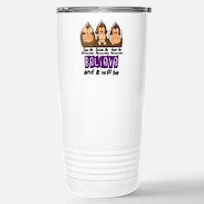 See Speak Hear No Fibromyalgia 3 Travel Mug