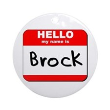 Hello my name is Brock Ornament (Round)