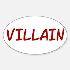 Red VILLAIN Oval Decal