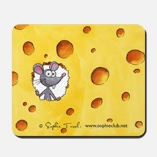 """Swiss  Cheese"" Mousepad by Sophie Turrel"