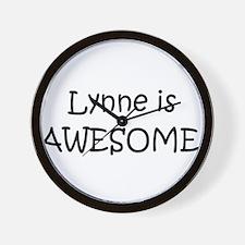 Unique I love lynne Wall Clock