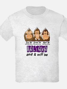 See Speak Hear No Pancreatic Cancer 3 T-Shirt