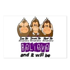 See Speak Hear No Pancreatic Cancer 3 Postcards (P