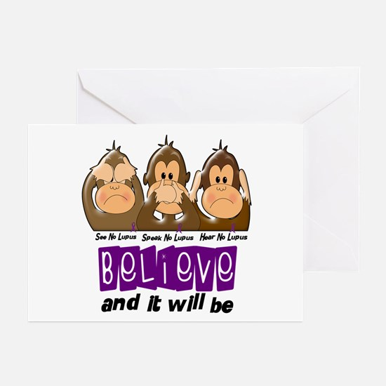 See Speak Hear No Lupus 3 Greeting Cards (Pk of 10
