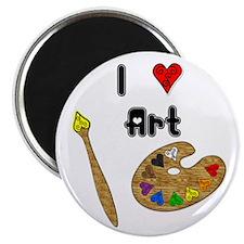 """I Love Art 2.25"""" Magnet (100 pack)"""