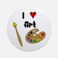 I Love Art Ornament (Round)