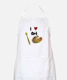 I Love Art BBQ Apron