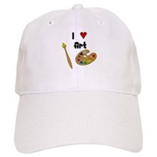 I Love Art Baseball Cap