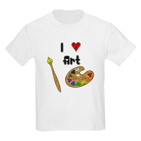 I Love Art Kids Light T-Shirt
