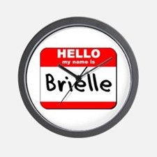 Hello my name is Brielle Wall Clock