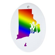Rhode Island Gay Pride Oval Ornament
