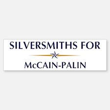 SILVERSMITHS for McCain-Palin Bumper Bumper Bumper Sticker