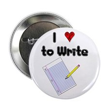 """I Love to Write 2.25"""" Button (10 pack)"""
