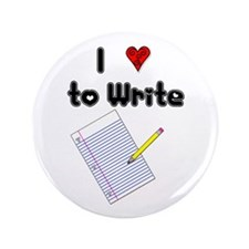 "I Love to Write 3.5"" Button (100 pack)"