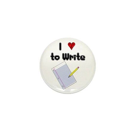 I Love to Write Mini Button (10 pack)
