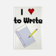 I Love to Write Rectangle Magnet (10 pack)