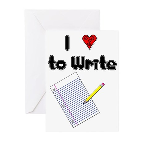 I Love to Write Greeting Cards (Pk of 20)