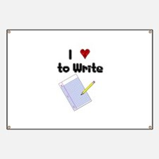 I Love to Write Banner