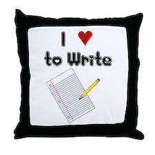 I Love to Write Throw Pillow