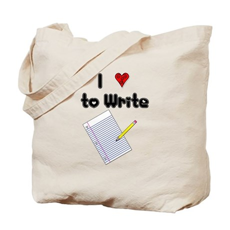 I Love to Write Tote Bag