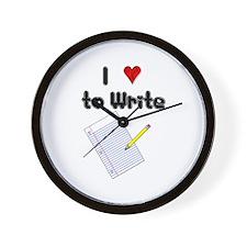 I Love to Write Wall Clock