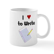 I Love to Write Mug