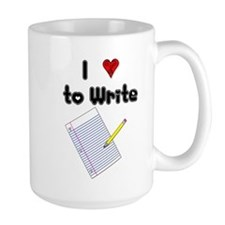 I Love to Write Mug