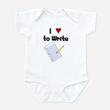 I Love to Write Infant Bodysuit