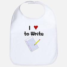 I Love to Write Bib