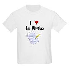 I Love to Write T-Shirt