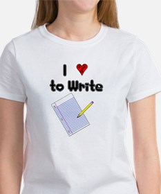I Love to Write Women's T-Shirt