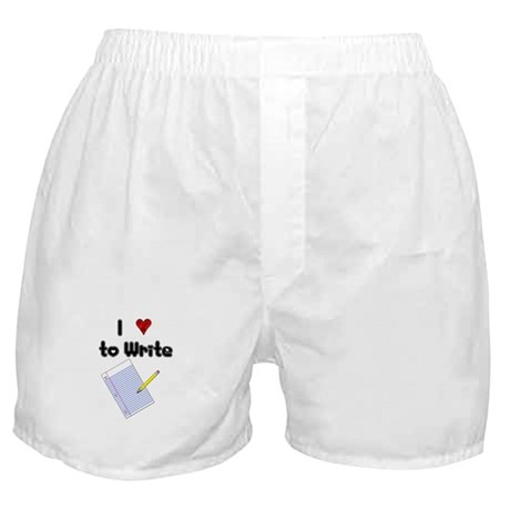 I Love to Write Boxer Shorts