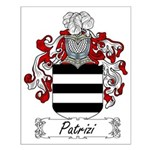 Patrizi Family Crest Small Poster