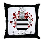 Patrizi Family Crest Throw Pillow